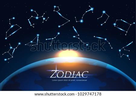 zodiac design concept astrology