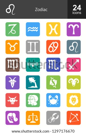 Zodiac Filled Icons