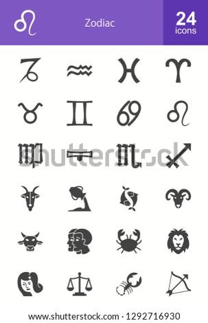 Zodiac Glyph Icons