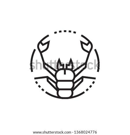 Zodiac icon. Scorpio zodiac icon.  Astrology sign. Eighth zodiac icon.