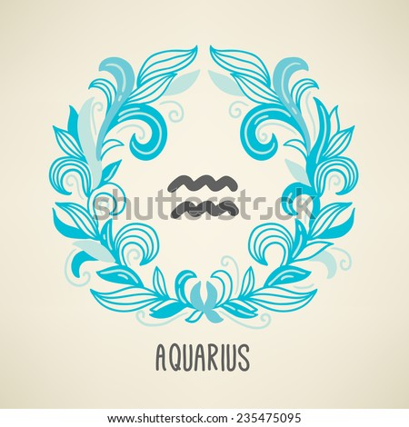 zodiac sign aquarius  the water