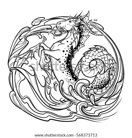 Capricorn zodiac pages intricate coloring pages for Capricorn coloring pages
