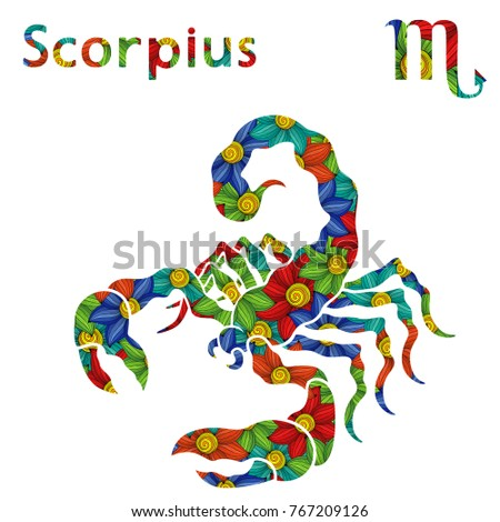 zodiac sign scorpius with