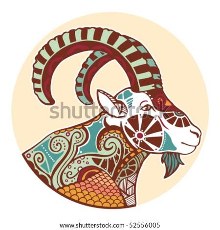 Zodiac signs - Capricorn (colored)
