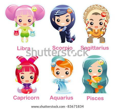 zodiac signs icon set part 2