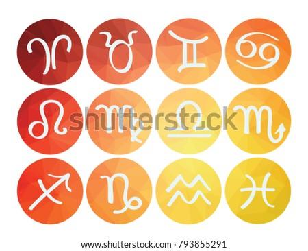 zodiac signs icons horoscope