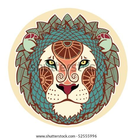 Zodiac Signs - Leo (Colored) Stock Vector Illustration ...