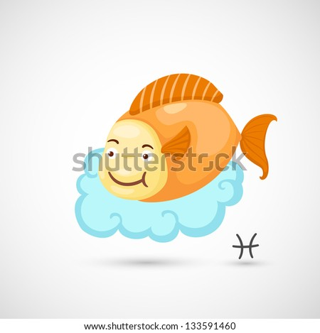 Zodiac signs - Pisces vector Illustration