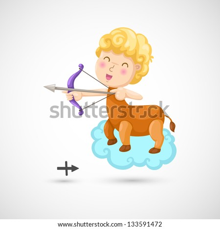 Zodiac signs -Sagittarius vector Illustration - stock vector
