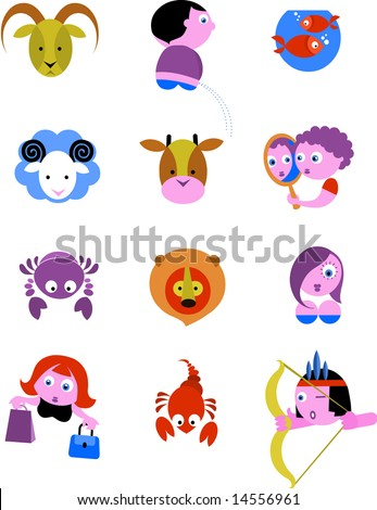 Zodiac Star Signs / icons - vector ilustration