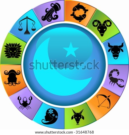 Zodiac Wheel Icon Set
