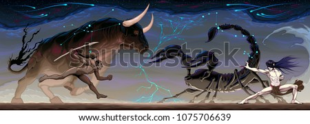 zodiacal battle between taurus