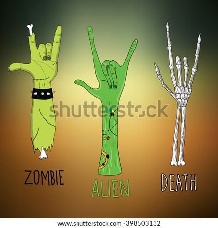 zombie  alien and death