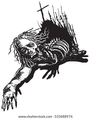 zombie an hand drawn vector