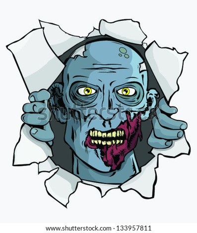 Zombie Attack! T-Shirt/Wall Design