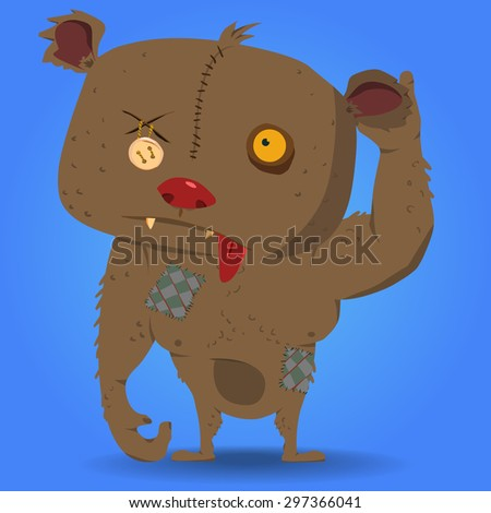 zombie bear vector character