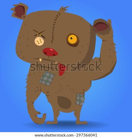 zombie bearvector character