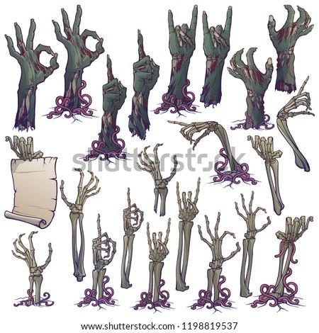 zombie body language set of