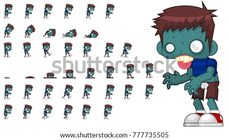 zombie character animation for