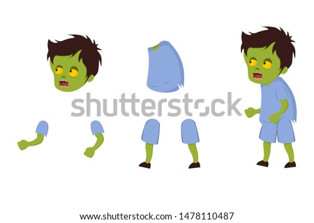Zombie Character 2D Game - Vector