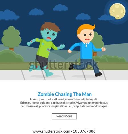 zombie chasing the man job