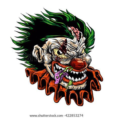 zombie evil clownvector
