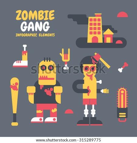 zombie gang   vector