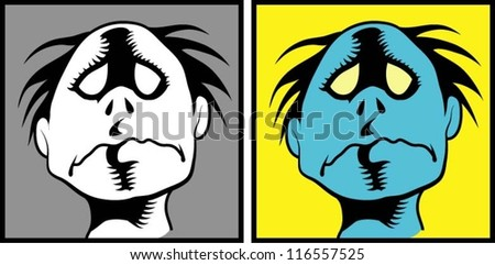 Zombie Face Line Drawing : Zombie face download free vector art stock graphics & images