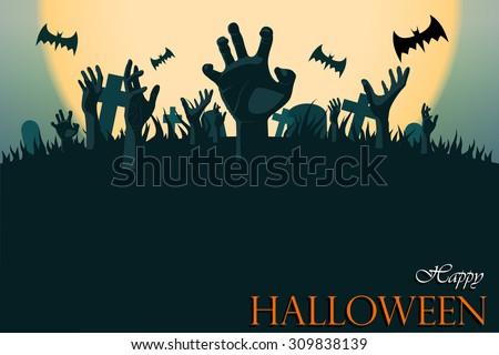 zombie hand halloween greeting