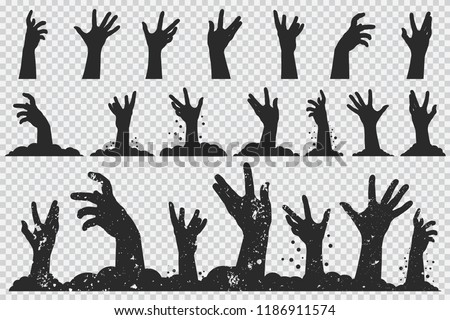 zombie hands black silhouette