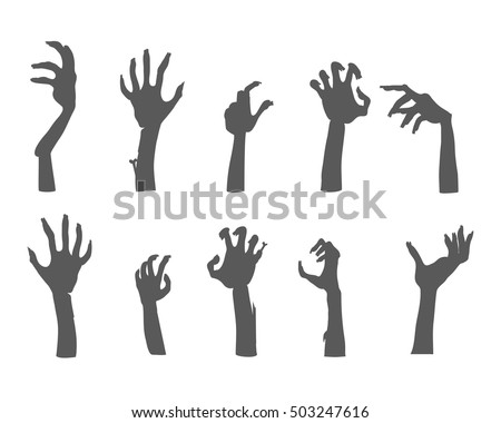 zombie hands sticking out from