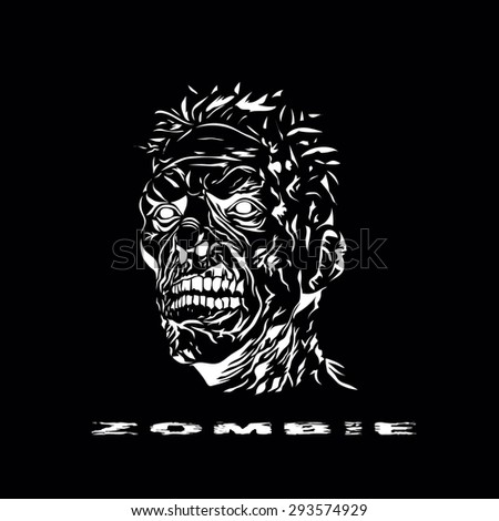 zombie head image in abstract