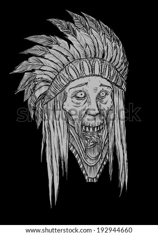 zombie indian head