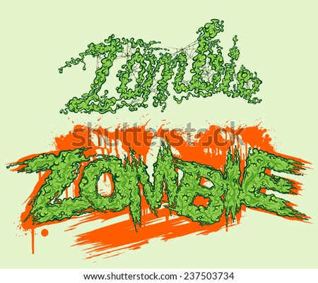 zombie lettering