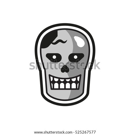 vector images illustrations and cliparts zombie monster head logo