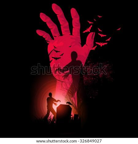 zombie night a zombie hand