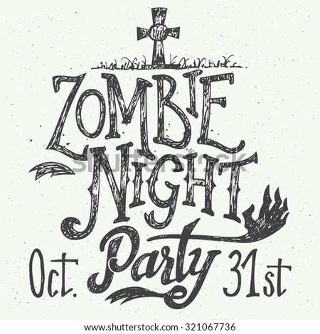 zombie night party halloween