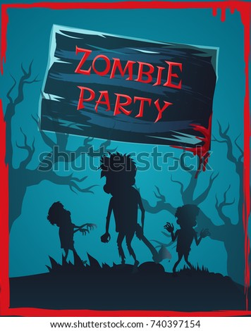 zombie party invitation with