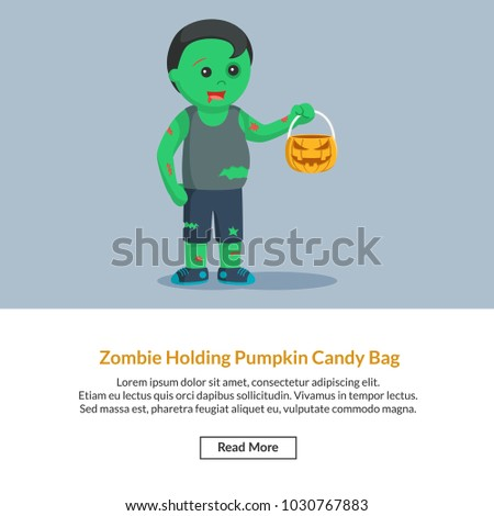 zombie pumpkin candy bag job