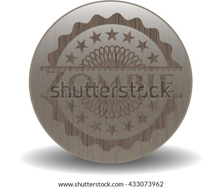 zombie realistic wood emblem