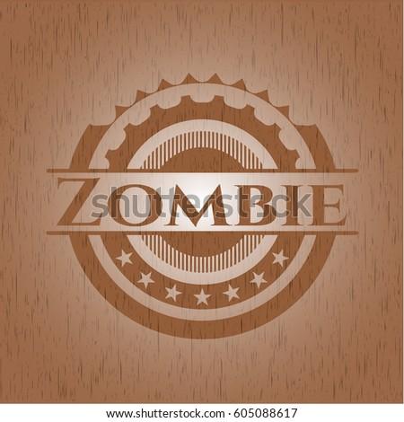 zombie retro wood emblem