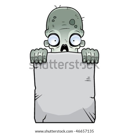 Zombie Tombstone - stock vector