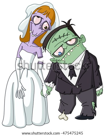 zombie wedding  bride and