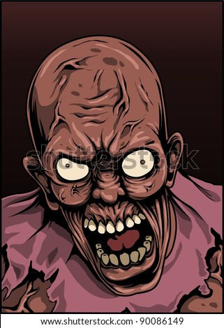 zombie with angry face