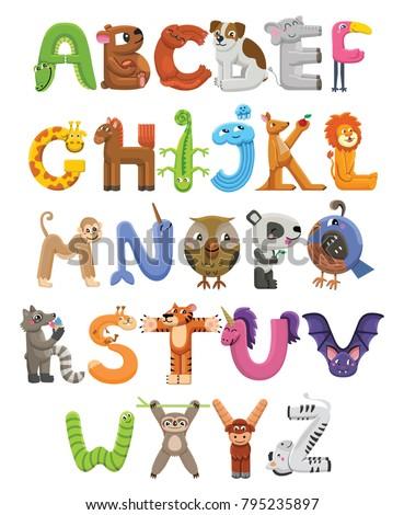 zoo alphabet animal alphabet