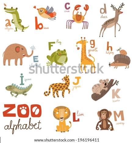 zoo alphabet in vector part 1