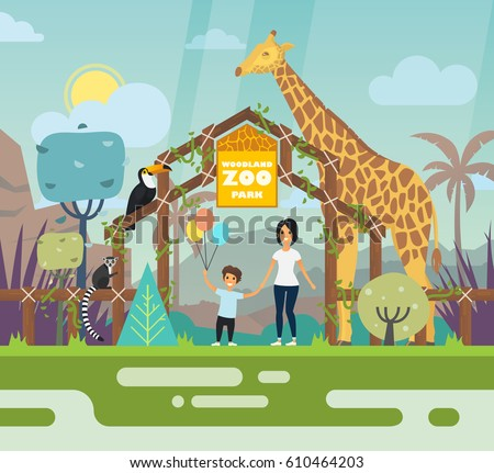 zoo entrance outdoor view with