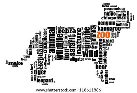 Zoo info-text graphics arrangement. Vector illustration.
