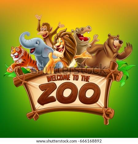 zoo safari illustration