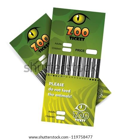 Zoo tickets - vector illustration